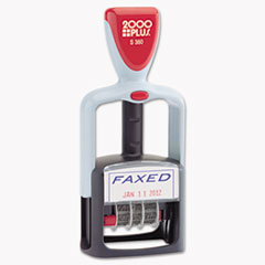 COS 011032 COSCO 2000 PLUS Self-Inking Two-Color Word Dater COS011032