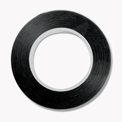 "COSCO TAPE ART 1-8"" GLOSS BK ART TAPE, 18"" X 28.5 FT, BLACK"
