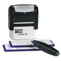 COSCO 2000 PLUS Create-A-Stamp One-Color Address Kit, Custom Message, Black