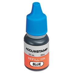 COSCO ACCU-STAMP Gel Ink Refill, Blue, 0.35 oz Bottle