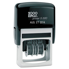 2000 PLUS Economy Dater, Self-Inking, Black