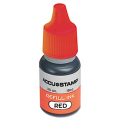 COSCO ACCU-STAMP Gel Ink Refill, Red, 0.35 oz Bottle