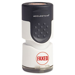 COS 035657 Accustamp Pre-Inked Round Stamp with Microban COS035657