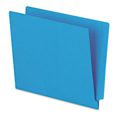 Pendaflex Reinforced End Tab Folders, Two Ply Tab, Letter, Blue,  100/Box