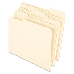 Pendaflex Earthwise Earthwise 100% Recycled Paper File Folder, 1/3 Cut, Letter, Manila, 100/Box