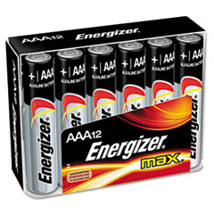 Energizer MAX Alkaline Batteries, AAA, 12 Batteries/Pack