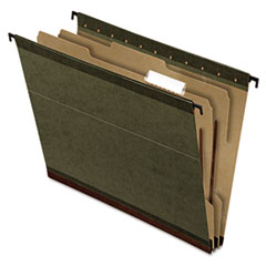 Pendaflex Reinforced Hanging Folder Dividers, Letter, 4 Section/1 Divider, Green,10/BX