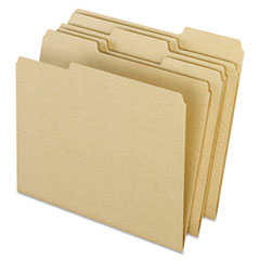 Pendaflex Earthwise Recycled Colored File Folders, 1/3 Top Tab, Letter, Natural, 100/BX