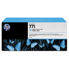 CR255A (HP 771) Ink Cartridge, 775 mL, Light Cyan, 3/Pk