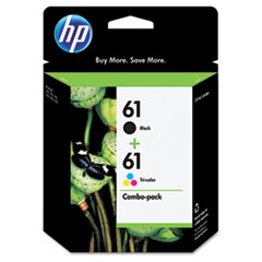CR259FN (HP 61) Ink Cartridge, 190;165 Page-Yield, Black, Tri-Color, 2/Pk