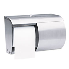 Kimberly-Clark Professional* Coreless Double Roll Tissue Dispenser, 7 1/10 x 10 1/10 x 6 2/5, Stainless Steel