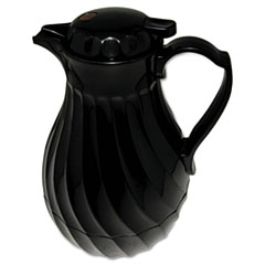 Hormel Poly Lined Carafe, Swirl Design, 40 oz. Capacity, Black