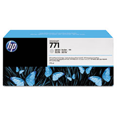 B6Y22A (HP 771) Ink Cartridge, 775 mL, Light Gray