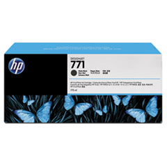 CR250A (HP 771) Ink Cartridge, 775 mL, Matte Black,3/Pk