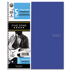 Five Star Trend Wirebound Notebooks, College Rule, 8 1/2 x 11, 5 Subject, 200 Sheets