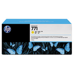 B6Y42A (HP 771) Ink Cartridge, 775 mL, Yellow, 3/Pk