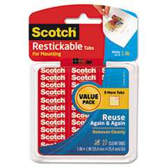 MMM R100VPC Scotch Restickable Mounting Tabs MMMR100VPC