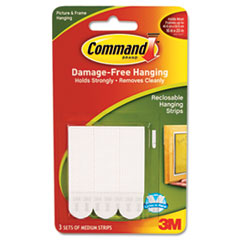 Command Picture Hanging Removable Interlocking Fasteners, 3/4 x 2, 3 Set/Pack
