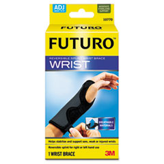 Futuro Adjustable Reversible Splint Wrist Brace, Fits Wrists 5 1/2