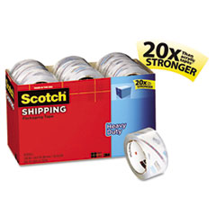 Scotch 3850 Heavy Duty Packaging Tape Cabinet Pack, 1.88