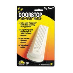 Master Caster Big Foot Doorstop, No-Slip Rubber Wedge, 2-1/4w x 4-3/4d x 1-1/4h, Beige