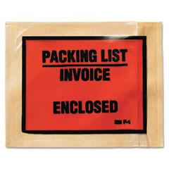 3M Non-Printed Self-Adhesive Packing List Envelope, 4 1/2 x 5 1/2, White, 1000/Box