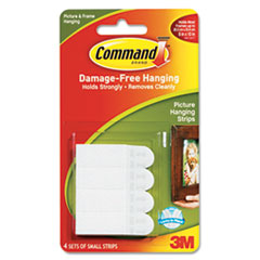 Command Picture Hanging Removable Interlocking Fasteners, 5/8 x 1-3/8, 4 Set/Pack