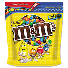 M & M's Milk Chocolate Coated Candy w/Peanut Center, 42 oz Bag