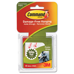 Command Poster Strips Value Pack, White, 48 Strips/Pack