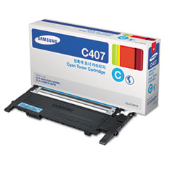 Samsung CLTC407S (CLT-C407S) Toner, 1,000 Page-Yield, Cyan