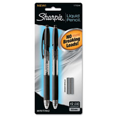 Sharpie Liquid Mechanical Pencil, 0.5 mm, 6 eraser refills, 2 per Set