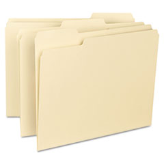 Smead File Folders, 1/3 Cut Assorted, Reinforced Top Tab, Letter, Manila, 100/Box