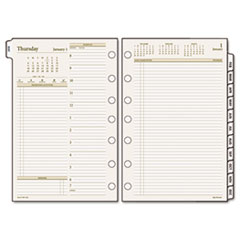 Day Runner Recycled Two-Page-per-Day Planning Pages, 5-1/2 x 8-1/2,, 2013