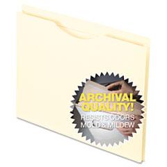 Pendaflex Smart Shield�Reinforced File Jacket, Flat, Letter, Manila, 100/Box