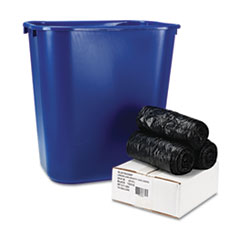 Boardwalk Low-Density Can Liners, 24 x 32, .35 mil, Black, 150/Carton