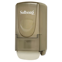 Softsoap Plastic Liquid Soap Dispenser, 800mL, 5 1/4w x 3 7/8d x 10h, Smoke