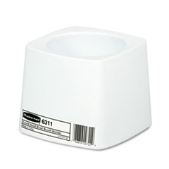 Rubbermaid Commercial Holder for Toilet Bowl Brush, White Plastic
