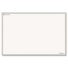 AT-A-GLANCE WallMates Self-Adhesive Dry Erase Writing Surface, White/Gray, 18
