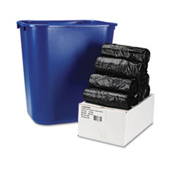 Boardwalk Low-Density Can Liners, 24 x 23, .35 mil, Black, 500/Carton