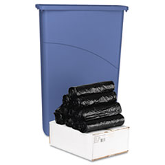 Boardwalk Low-Density Can Liners, 40 x 46, .45 mil, Black, 250/Carton