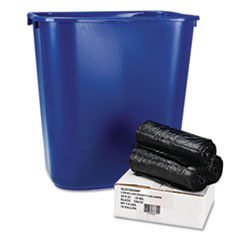 Boardwalk Low-Density Can Liners, 24 x 23, .35 mil, Black, 150/Carton