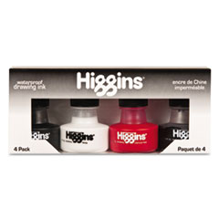 Higgins Fountain Pen Ink, 1 oz Bottle, Assorted Colors, 4/Set