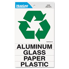 Headline® Sign-SIGN,RECYCLE COMBO,GN