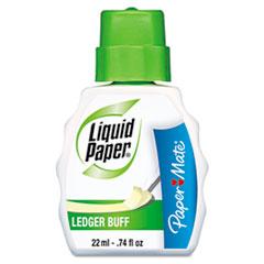 Paper Mate Liquid Paper Correction Fluid, 22 ml Bottle, Ledger Buff