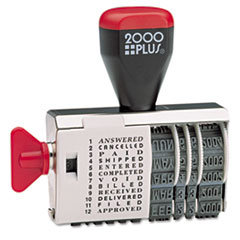 2000 PLUS Dial-N-Stamp, 12 Phrases, 1 1/2 x 1/8