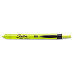 Sharpie Accent Retractable Highlighters, Chisel Tip, Fluorescent Yellow, 12/Pk