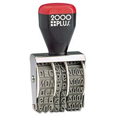 COSCO 2000 PLUS Traditional Date Stamp, Six Years, 1 3/8 x 3/16