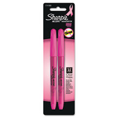 Sharpie Pink Ribbon Pocket Style Highlighters, Pink, 2/Pk