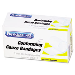 PhysiciansCare First Aid Conforming Gauze Bandage, 1 Roll Per Box, 4