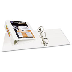 Avery Antimicrobial View Binder w/One-Touch EZD Rings, 4